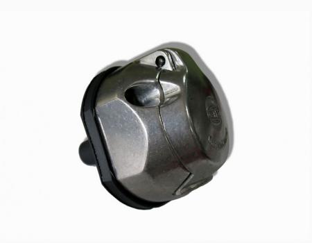 Резетка металическая 7 контактная с пыльником и разветвителем